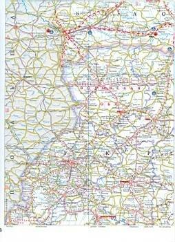 Подробная карта автомобильных дорог Белоруссии.