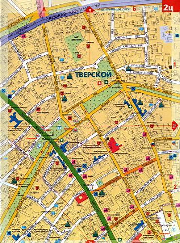 Карта центра москвы карта москвы с